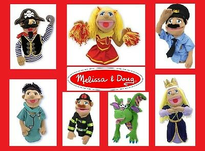 Melissa and Doug - Puppets - KING, PRINCESS, DRAGON, Plush, Hand / Rod, Choose