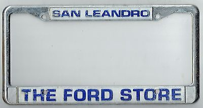 super rare san leandro california the ford store vintage license plate frame