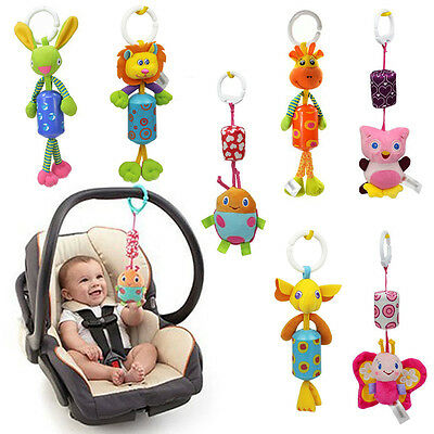 Baby Infant Rattles Animal Stroller Bed Hanging Bell Toy Doll Soft Cute Rattle