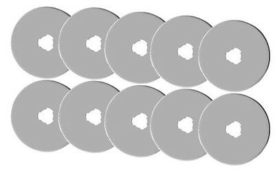 10 pices of 45MM ROTARY CUTTER BLADES fits,Olfa, Fiskars, DRITZ, Clover & more