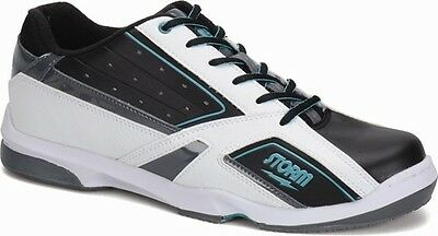 Storm Blizzard White/Black/Teal Right Handed Mens Bowling Shoes