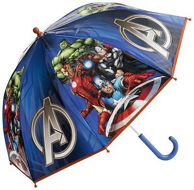 Official Marvel Avengers Blue Character Kids Childrens Bubble Umbrella