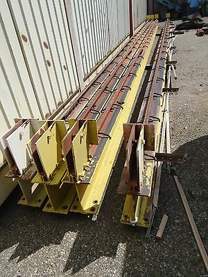 "TWO 43' Overhead Crane Beams with Rails - 8"" x 12"""