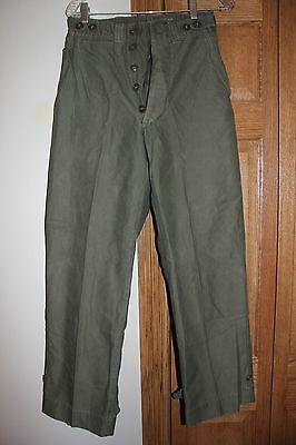 US Military Issue WW2 ERA  HBT Field Pants Trousers