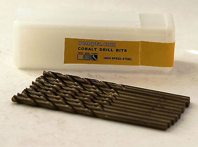 "7/64"" Cobalt Drill Bit - M35 High Speed Steel - 135 Split Point Tip - 10 pk"