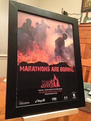 """Framed Original 2012 """"tough Mudder"""" Military-Style Obstacle Course Race Promo Ad"""