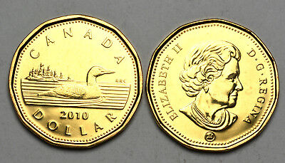 2010 Canada - Hard to find 1$ Loon - Low Mintage Year - UNC from Mint Roll