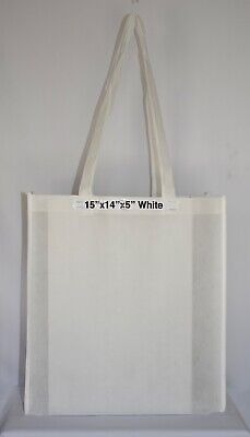 Shopping Bags Eco Friendly Reusable Recyclable Gift & Promo Bag (Large) 10 Pcs