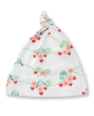 Sapling Child Girls Bluebirds Print Knotted Hat 100% Organic Cotton Babywear