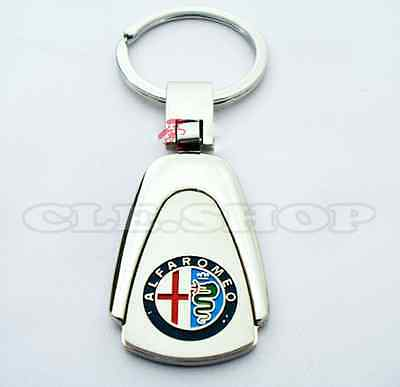 ALFA ROMEO KEY CHAIN CHROME KEY RING Keychain Keyring