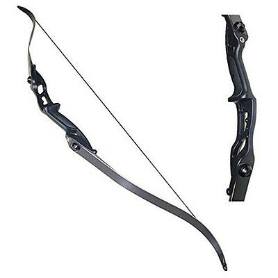 Recurve Archery Take Down Bow Alloy Riser Hunting Practice Target Game Training