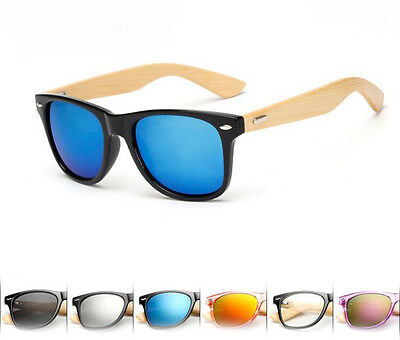 New Bamboo Sunglasses Wooden Wood Mens Womens Retro Vintage Summer Glasses