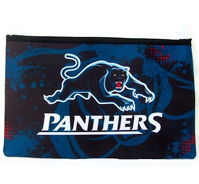 Penrith Panthers NRL Large Neoprene Team Colour and Logo Pencil Case