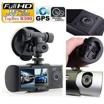 "Back and Front Camera Car DVR R300 with GPS and 3D G-Sensor 2.7"" TFT LCD DVR NEW"