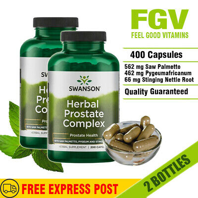 Swanson Herbal Prostate Complex 400 caps - Saw Palmetto Pygeum Stinging Nettle