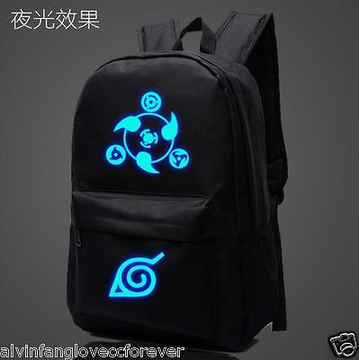 New Anime Cartoon NARUTO Shoulders Backpack Luminous Zipper Student Schoolbag