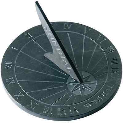 Round Slate Sundial Outdoor Garden Sun Dials Ornaments Statues Decoration Vintag