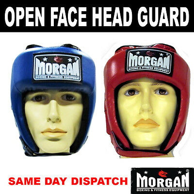 MORGAN OPEN FACE CLASSIC HEAD GUARD - gear sparring helmet competition amateur