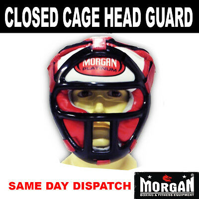 MORGAN CLOSED CAGE HEAD GUARD - gear sparring self defense grill protection