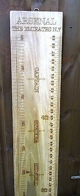 ARSENAL Wooden Growth Chart. Childrens Height Chart. Metre Ruler. AFC. Measure.