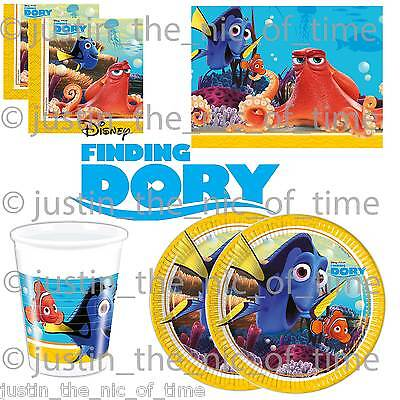 FINDING DORY Boys Girls Birthday Party Tableware Plates Cups Napkins Tablecover