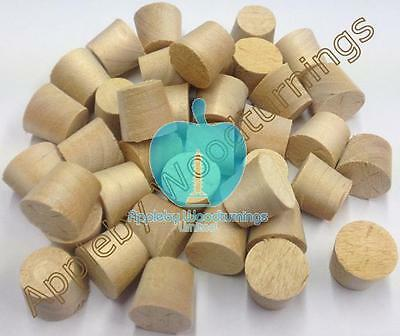 """1/2"""" Birch Tapered Wooden Plugs 100pcs"""