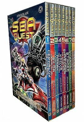 Sea Quest Series 1 and 2 Collection Adam Blade 8 Books Box Set Mangler, Crusher