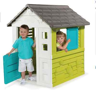 NEW Smoby Nature House Kids Outdoor Wendy House Playhouse Garden Toys Childrens