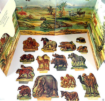 NOAHS ARK RELIGIOUS EDUCATIONAL PANORAMA BOOK Animal cutouts STAND UP DISPLAY