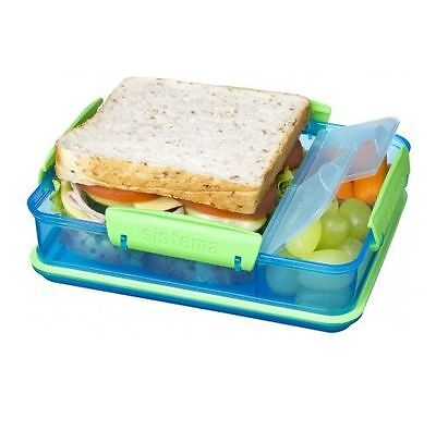 Sistema 975ml Snack Attack Duo Compartments BPA Free Dishwasher & Microwave Safe