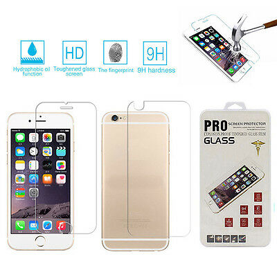 Premium Real Front+Back Tempered Glass Film Screen Protector For iPhone 6s Plus