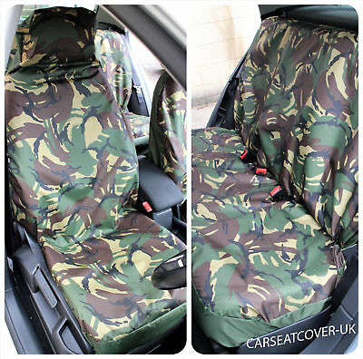 BMW 4 Series Convertible  - Camouflage Waterproof Car Seat Covers - Full Set