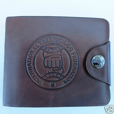 ITF TAEKWONDO LEATHER WALLET - Also Cuff Links, Tie clip, Key Ring - Super Gifts