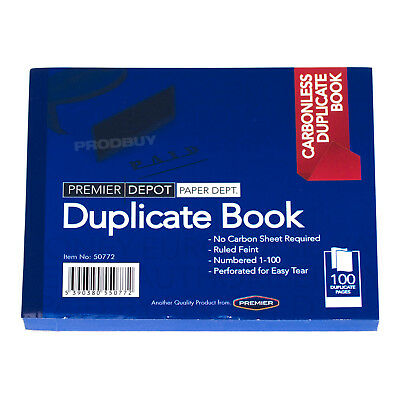10 x Carbonless 100 Page Duplicate Books Invoice Receipt Lined A6 Numbered Pads