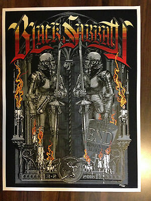 "Black Sabbath Edmonton ""the End"" Tour Poster"