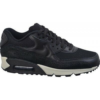 huge selection of c8a3c ba342 Size 12.5 Nike Men Air Max 90 Leather PA Shoes 705012 001 Black White