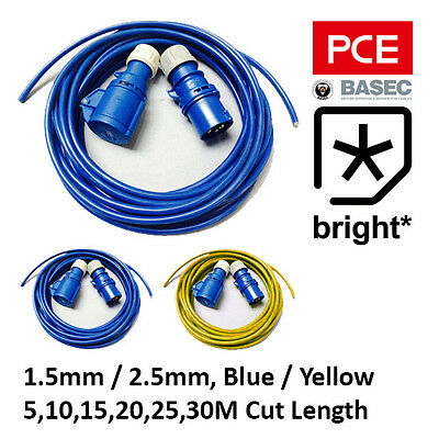 16A Electric Hook Up Cable Kit 2.5m 1.5mm Motorhome Caravan Camping Boat