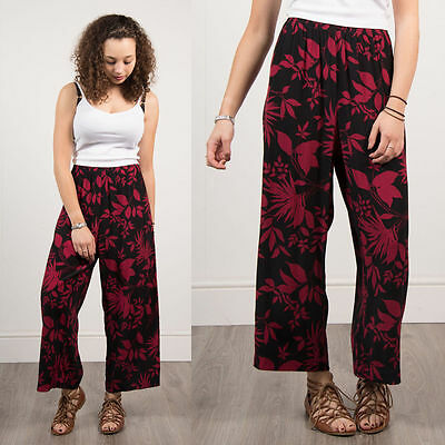 Vintage 90's Black And Red Trousers Loose Fit Summer Style Casual Retro 16