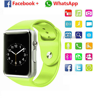Bluetooth Smart Watch For Android HTC Samsung iPhone iOS with Camera SIM Slot