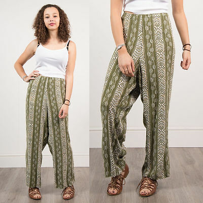 Womens Vintage 90's Grunge Trousers Loose Fit Casual Retro Summer Festival 20 22