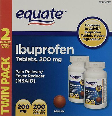Equate Ibuprofen Tablets 200mg 200 Tablets