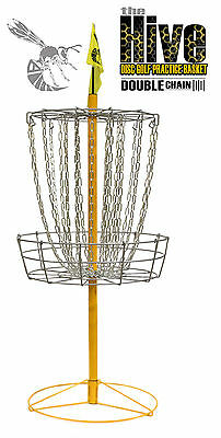 FREE SHIP!* NEW Hive Double Chain Disc Golf Practice Basket - Portable 24 Chains