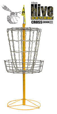 FREE SHIP!!* NEW Hive Cross Chain Disc Golf Practice Basket - Portable 12 Chains