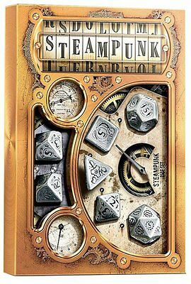 Steampunk Metal Polyhedral Dice Set (7) QWS SMST35