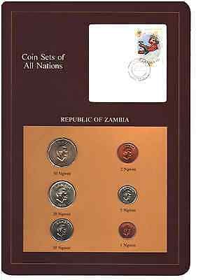 Coin Sets of All Nations, Republic of Zambia 6 Coin Mint Set