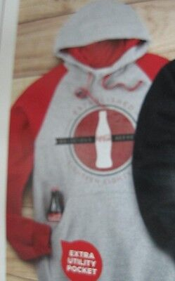 Coca-Cola  Colorblock Sweatshirt w/hood -  2X Large   NEW