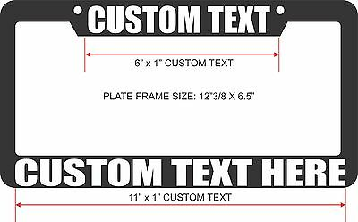 NEW Black License Plate Frames Custom Text. Choose Text Color. Personalize. JDM