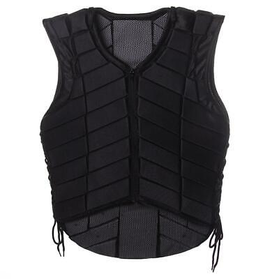Safety Equestrian Horse Riding Vest Protective Body Guard Protector Jacket Black