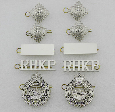 Obsolete RHKP Senior inspector pin and collar pin badges -replica-as pictures