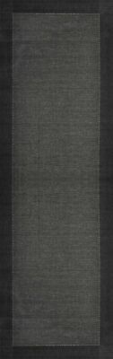 SUNSET BLACK INDOOR OUTDOOR SIMPLE FLOOR RUG RUNNER 80x300cm **FREE DELIVERY**